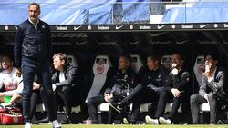 Adi Hütter stand am Samstag zum letzten Mal für Eintracht Frankfurt an der Linie