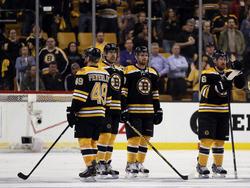 Boston Bruins: Peverley, Rolston, Pouliot, Zanon