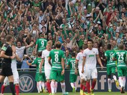 Werder jubelt vor den eigenen Fans