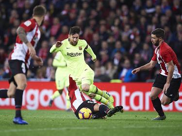 Messi es duda para el partido en San Mamés.