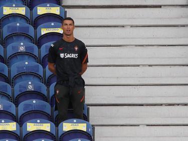 Ronaldo presenció el último duelo ante Croacia en la grada.
