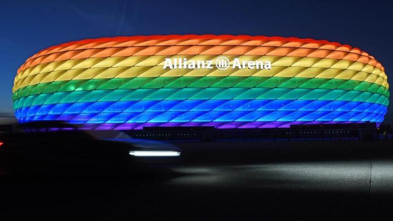 Während eines EM-Spiels wird das Stadion in München wohl nicht in Regenbogenfarben leuchten