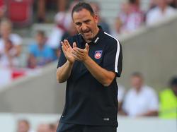 Trainer Frank Schmidt ist mit der Entwicklung sehr zufrieden