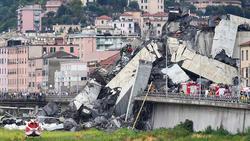 Nach dem Brückeneinsturz in Genua mit vielen Toten werden die Spiele der genoveser Vereine verschoben