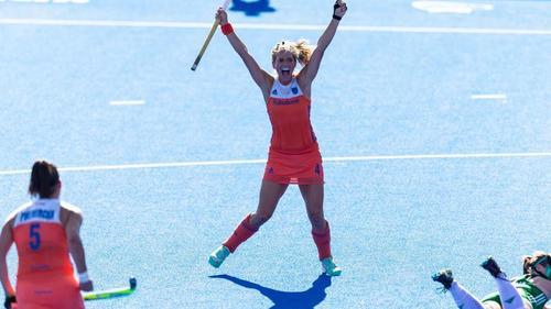 Kitty van Male jubelt: Die Niederlande sind zum achten Mal Weltmeister im Damen-Hockey