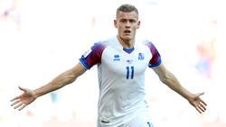 Alfred Finnbogason erzielte gegen die Schweiz einen schönen Treffer