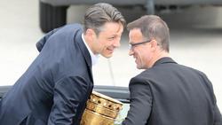 Niko Kovac und Fredi Bobic gewannen 2018 mit Eintracht Frankfurt den DFB-Pokal