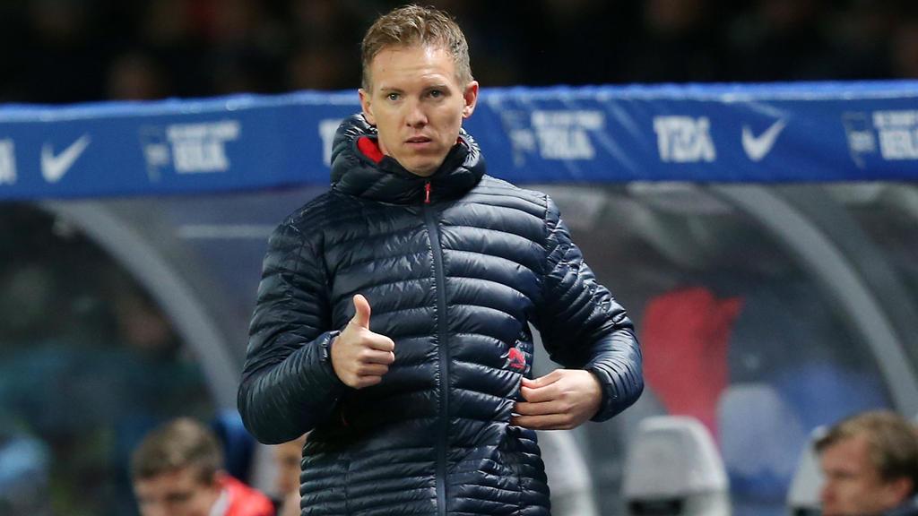 Julian Nagelsmann war am Ende mit der Leistung von RB Leipzig einverstanden