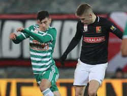 Yusuf Demir (l.) bestritt gegen die Admira sein erstes Profispiel für Rapid