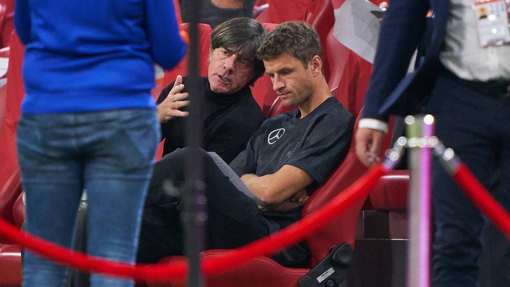 Beim FC Bayern gesetzt, unter Jogi Löw nicht gefragt: Thomas Müller (r.)