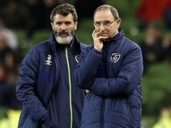 Irlands Teamchef Martin O'Neill (r.) und Assistent Roy Keane (l.) präsentierten ihren Kader für das Österreich-Spiel