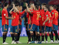 España hizo un mal partido y sufrió para empatar ante Marruecos. (Foto: Getty)