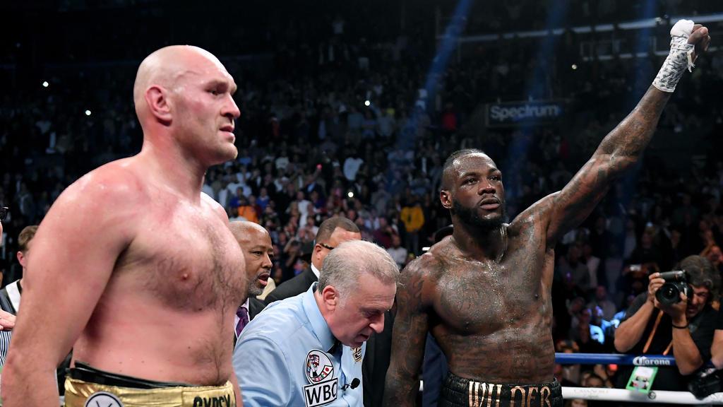 Wilder (r.) fordert einen Rückkampf gegen Fury