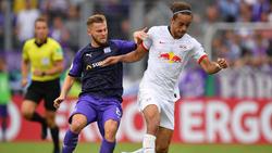 Yussuf Poulsen (r.) lobt die neue Ausrichtung bei RB Leipzig