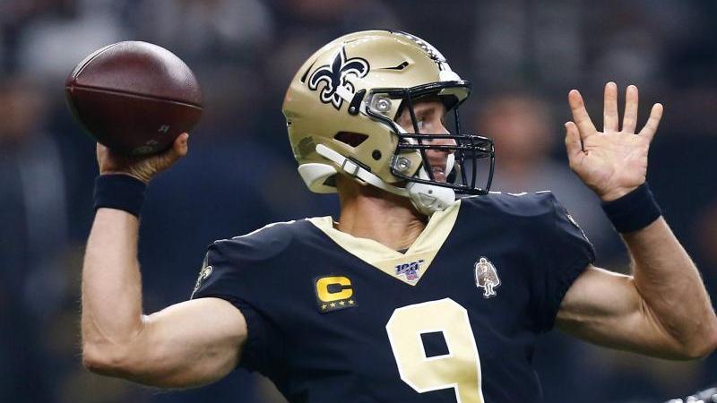 Quarterback Drew Brees gewann mit den New Orleans Saints gegen die Houston Texans