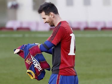 Messi huldigte seinem Idol mit einer emotionalen Geste