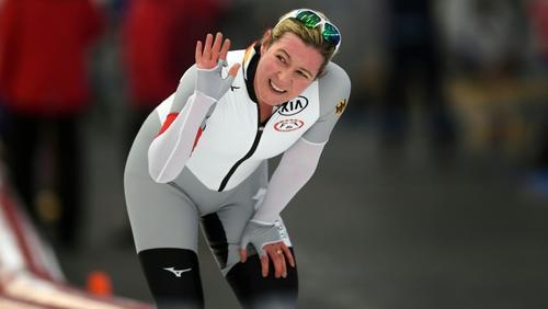 Claudia Pechstein landete auf Rang zehn