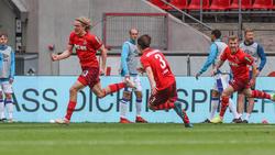 Sebastiaan Bornauw (l.) war der Matchwinner für den 1. FC Köln
