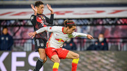 Yussuf Poulsen (r.) weiß um die Stärke des FC Bayern