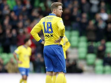 Het debuut van Kevin van Veen valt in het water. FC Groningen scoort de 2-0 en deelt daarmee SC Cambuur de definitieve klap uit. (07-02-2016)