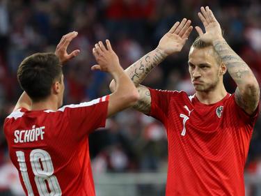 Startelf-Debütant Schöpf und Arnautović machten die Partie vor der Pause klar
