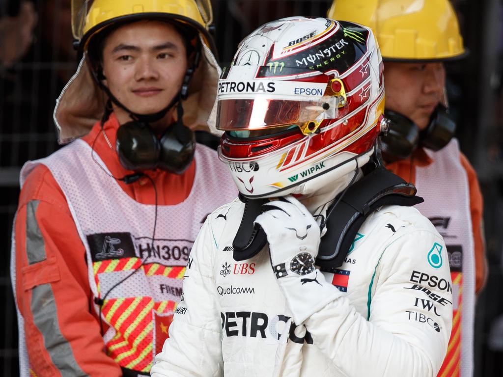 Lewis Hamilton wurde in Shanghai Opfer einer Strategiepanne