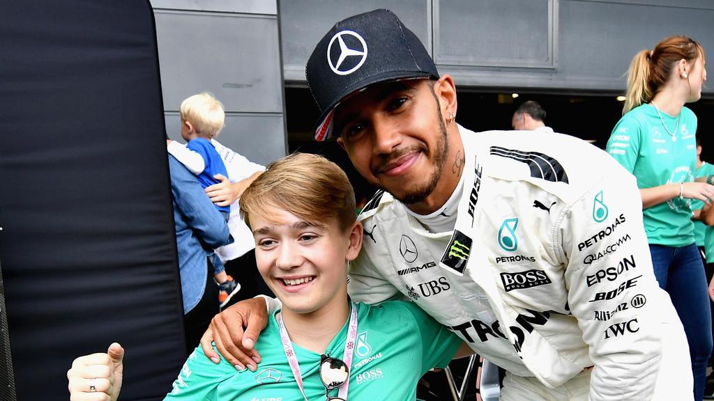 Lewis Hamilton ist das Vorbild von Billy Monger