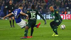 Daniel Caligiuri (l.) war Schalkes Matchwinner gegen den VfL Wolfsburg
