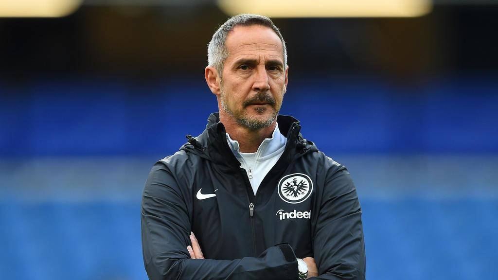 Adi Hütter war mit dem Spiel seiner Eintracht gegen Mainz nicht zufrieden