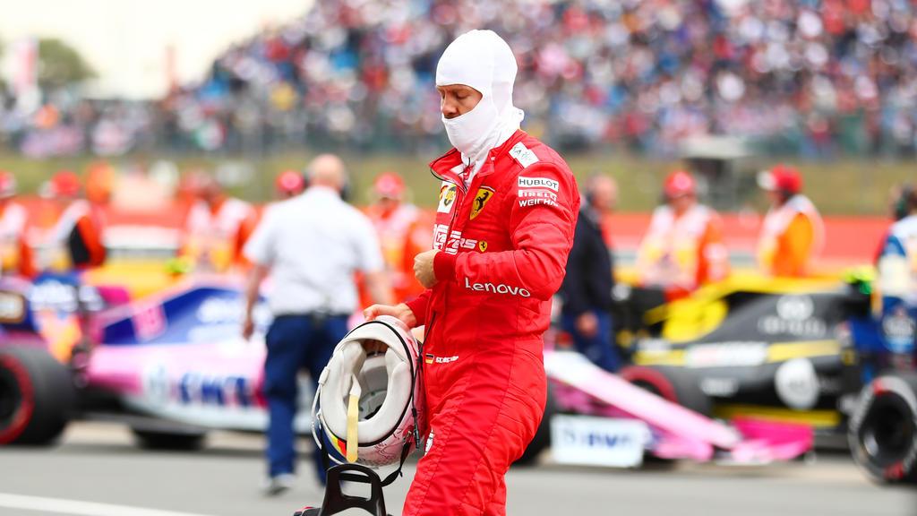 Sebastian Vettel schloss den GP von Silverstone als 16. ab