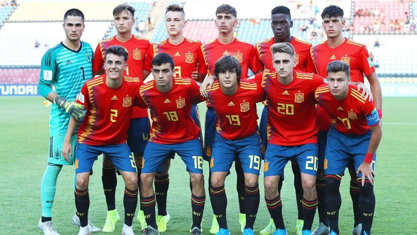 Once de España Sub-17 para medirse a Tayikistán.