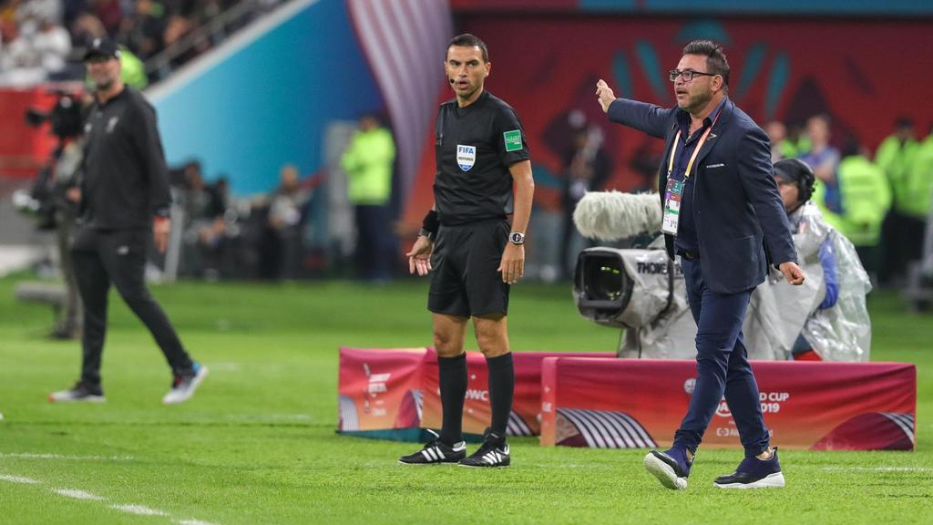 Mohamed (r.) und Jürgen Klopp trafen bei der Klub-WM aufeinander