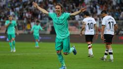 Modric marcó el tecer tanto del Real Madrid.