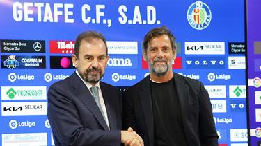 Erneut Chef-Trainer beim FC Getafe: Quique Sánchez Flores (r.)