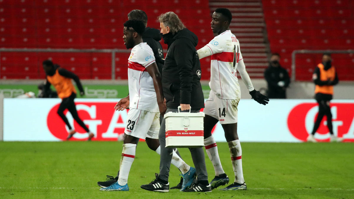 Verletzte sich erneut folgenschwer: VfB-Profi Orel Mangala (l.)