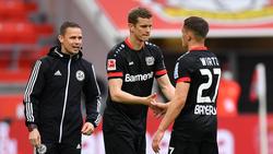 Florian Wirtz (r.) traf für Bayer Leverkusen