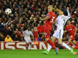 Cristiano Ronaldo mit dem Führungstor für Real in Liverpool
