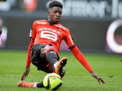 Dembélé in actie tegen Nantes. (06-03-2016)