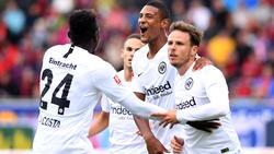 Nicolai Müller (r.) avancierte zum Matchwinner für Eintracht Frankfurt