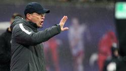 Ralf Rangnick ist mit RB Leipzig gegen Bayer Leverkusen gefordert