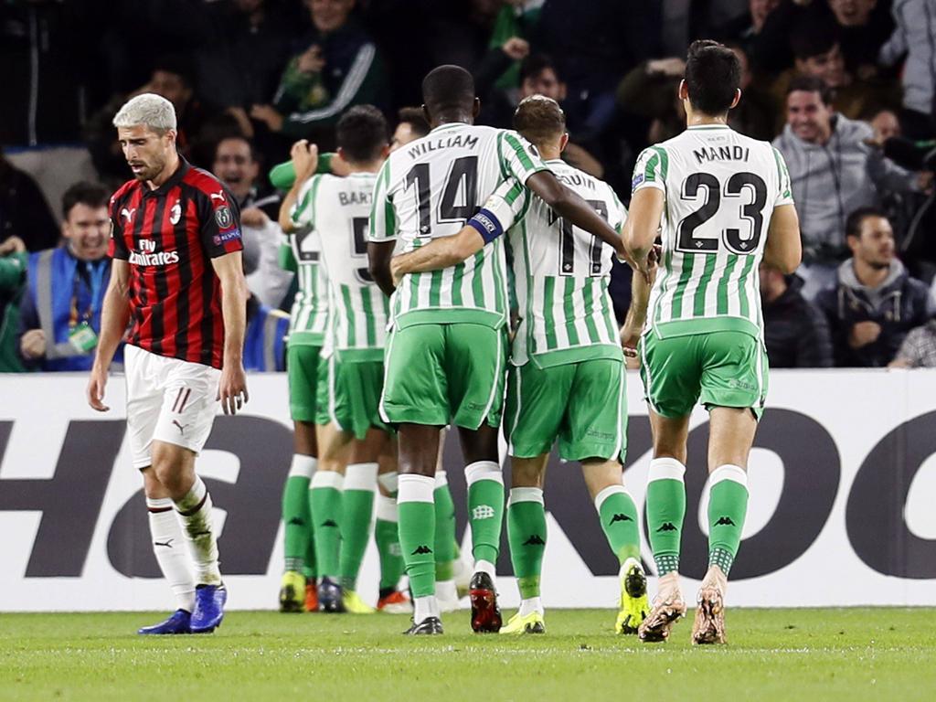 Los jugadores del Betis celebran el gol de Lo Celso. (Foto: Getty)