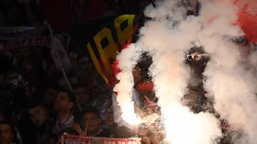 Die Fans von RB Leipzig fielen negativ auf