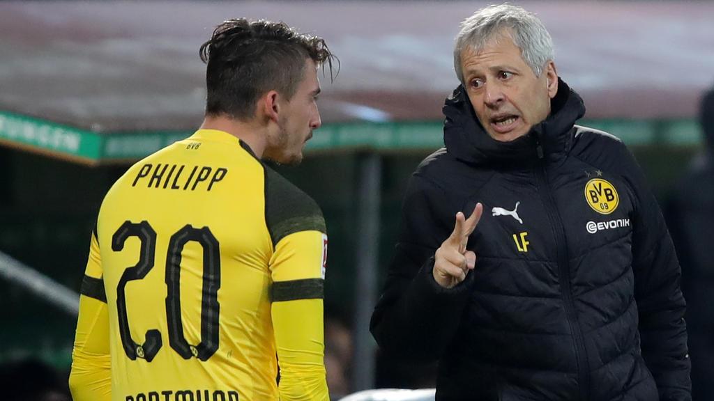 Unter BVB-Coach Favre (r.) war Philipp nicht mehr gesetzt