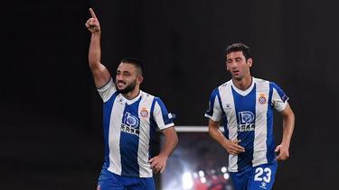 Vargas salvó el empate para el Espanyol.