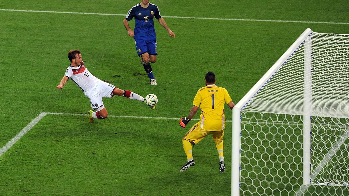 Mario Götze erzielte im WM-Finale 2014 den 1:0-Siegtreffer gegen Argentinien