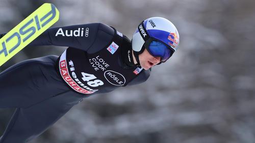 Vinzenz Geiger wurde in Val di Fiemme Dritter
