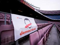 Das Camp Nou blieb wegen des Referendums in Barcelona beim letzten Heimspiel leer