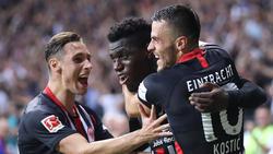 Eintracht Frankfurt setzte sich gegen RC Strasbourg durch