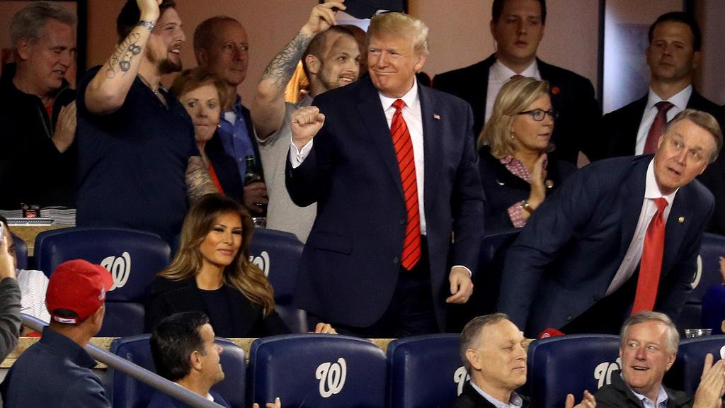 Donald Trump wurde nicht von allen Fans herzlich empfangen