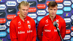 Im Nationalteam Kollegen, in der Bundesliga Konkurrenten: BVB-Star Haaland und Leipzigs Sörloth